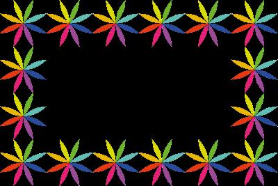 Marco flor arco iris