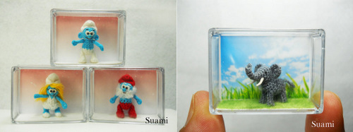 07-SuAmi-Mini-Crocheted-Animals-Smurf-Family-Tiny-Elephant