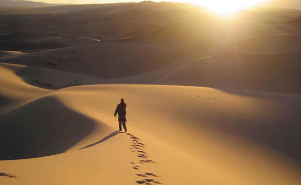 Jésus venait d'être baptisé. Aussitôt l'Esprit le pousse au désert. Et dans le désert il resta quarante jours