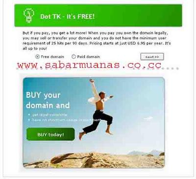 Cara Mudah Daftar Domain Gratis dot tk