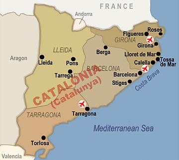 Cataluña Map Picture