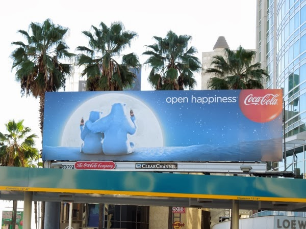 Coca Cola Christmas 2013 polar bears billboard