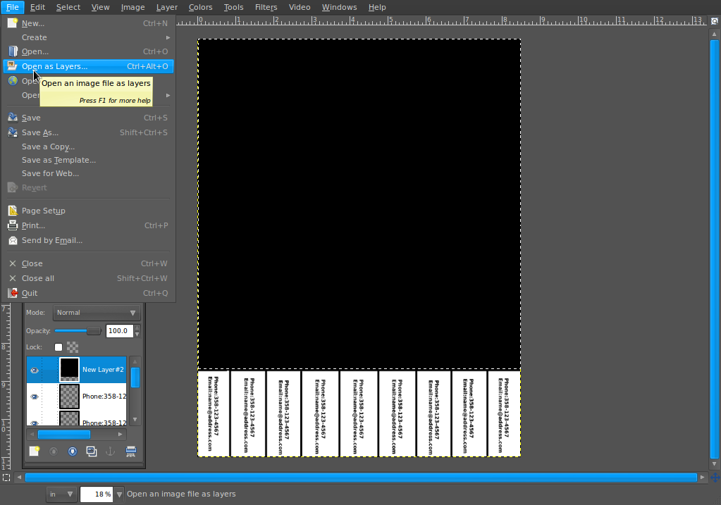 How To Create A Tear Off Tabs Flyer In The Gimp Part 2 – Tear off Tab Flyer