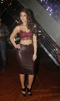 Actress Ileana Latest Pictures in Leather Skirt at Happy Ending Movie Promotions on RAW Star Sets  1.jpg