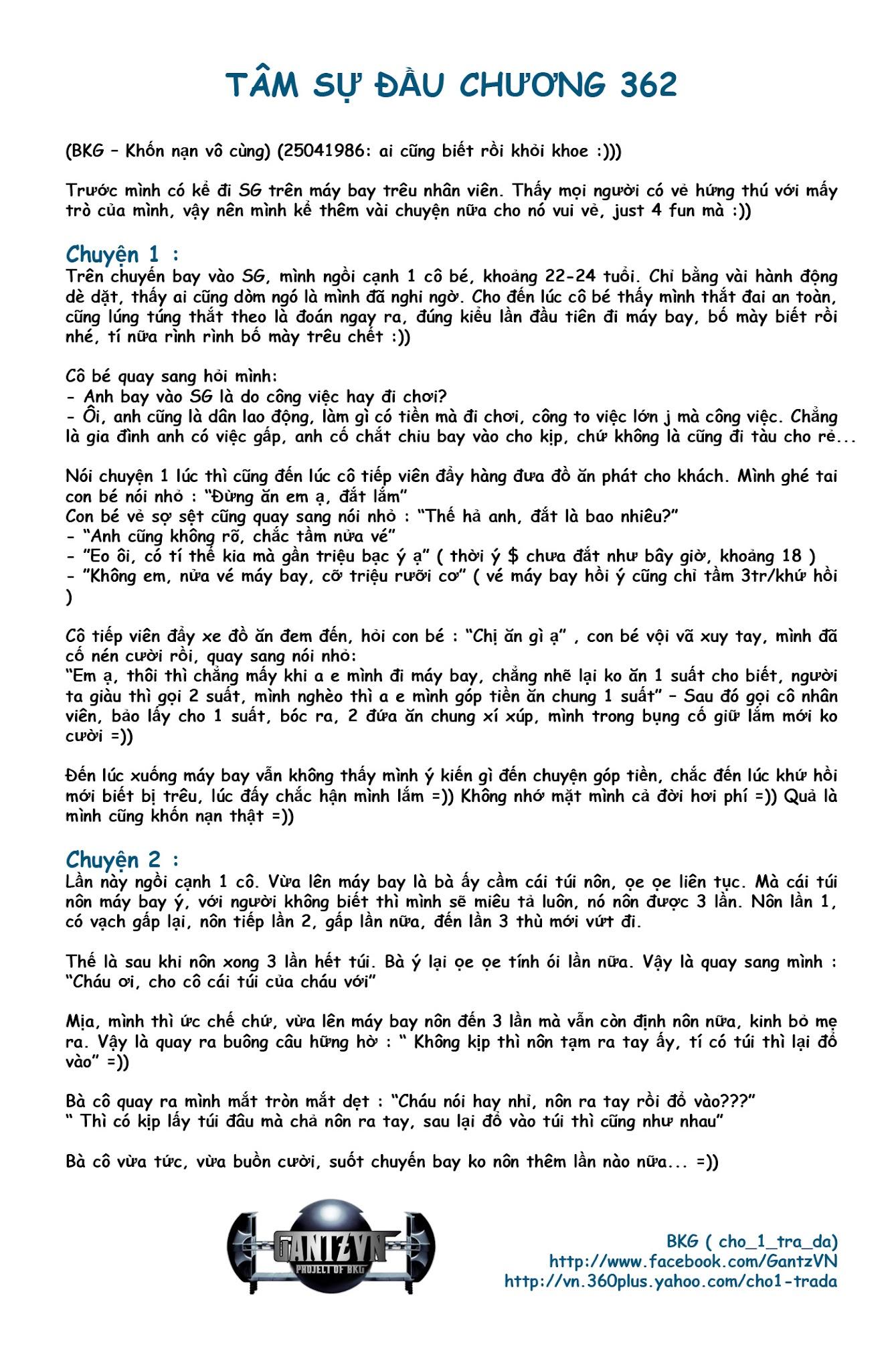 Gantz chap 362 Trang 1 - Mangak.info