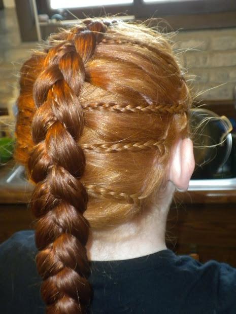 dutch braid with mini english braids
