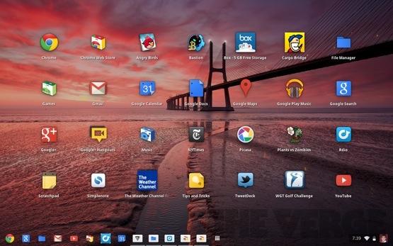 Tampilan Chrome OS