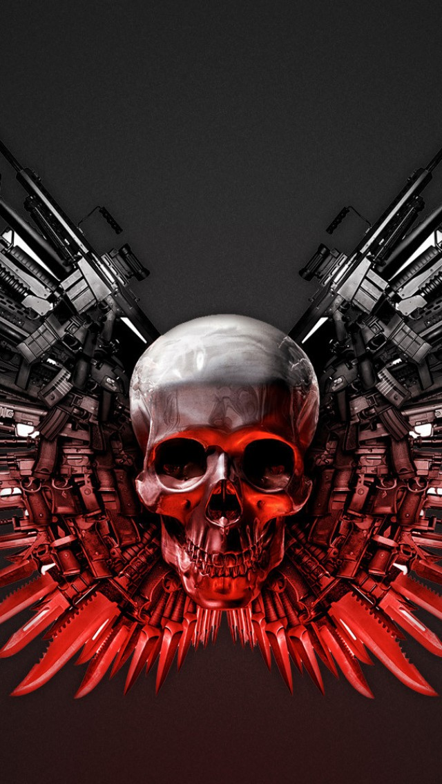 The Expendables Weapons HD iPhone Wallpaper