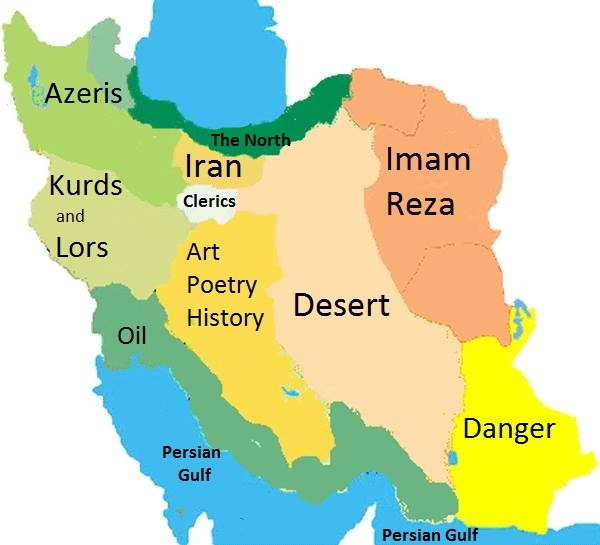clich map of iran