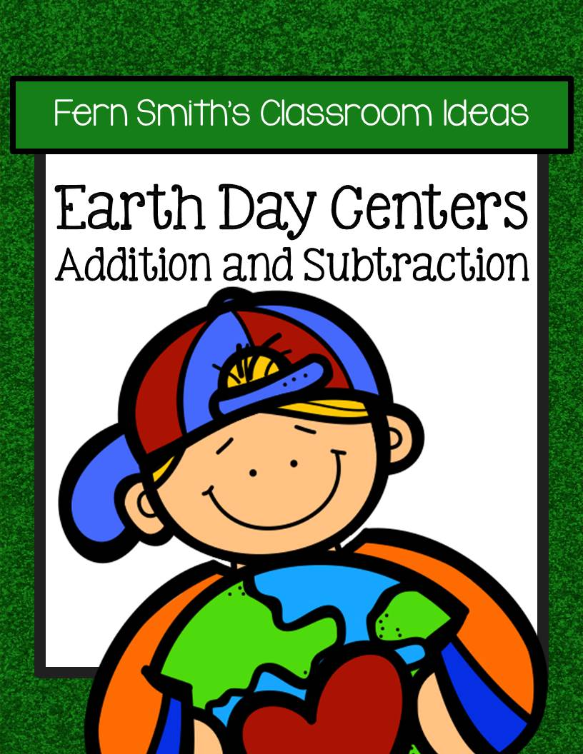 Earth Day - Addition and Subtraction Center Games