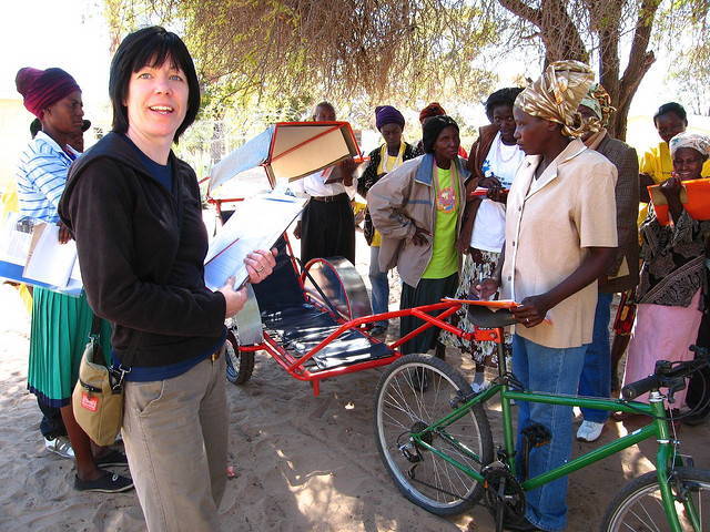 Canadians Donating Bikes To Africa from donated bicycles