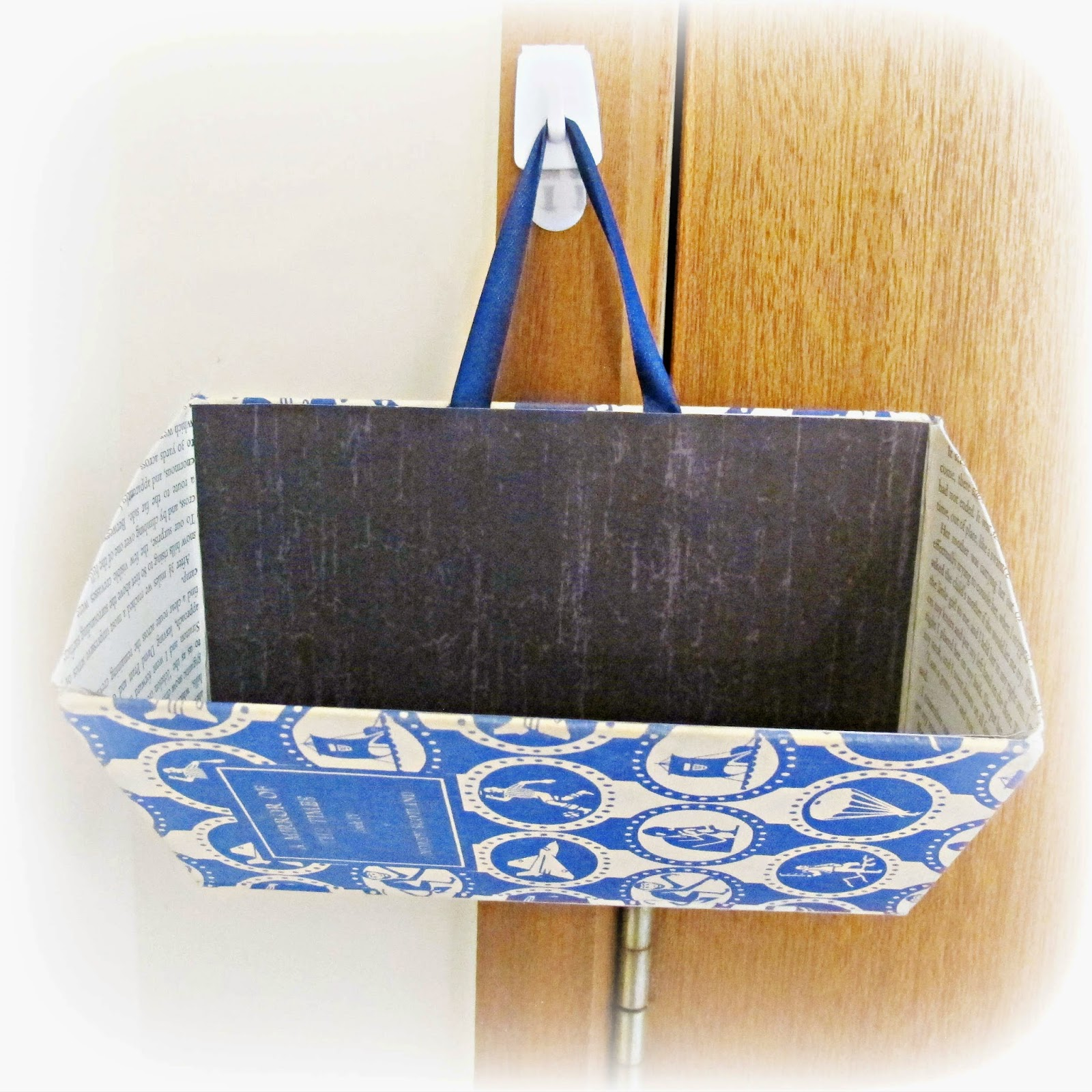 image wall pocket upcycled book caddy from kayte terry's paper made!