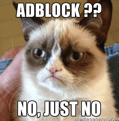 Say no to adblock