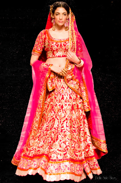 Suneet Varma India Bridal Fashion Week 2013 The Golden Bracelet Indrani Dasgupta