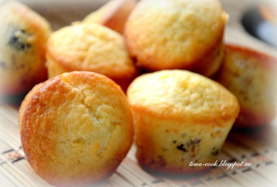 Бисквитные кексы с начинкой рецепт с фото