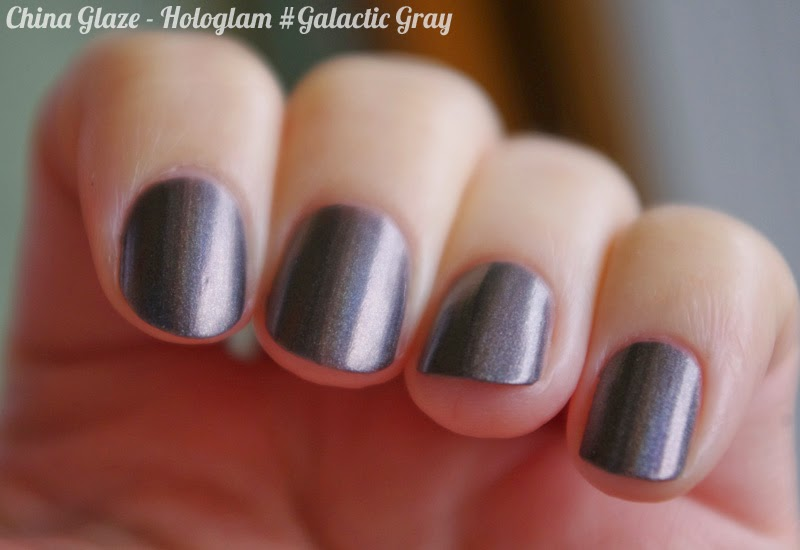 China Glaze Hologlam Collection - Galactic Gray swatches & review