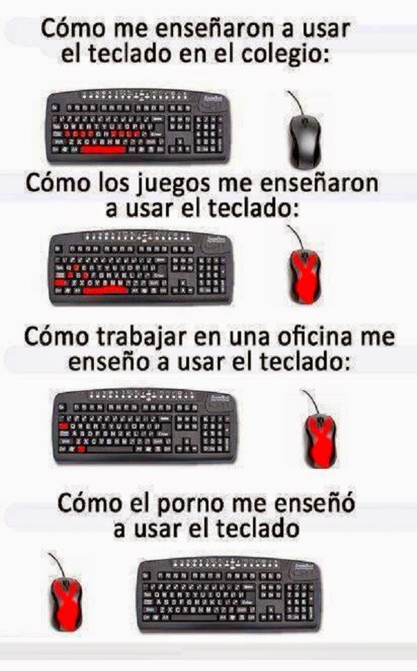 Formas de usar el teclado