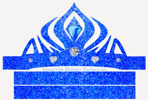Frozen in Blue: Free Printable Crown or Tiara.