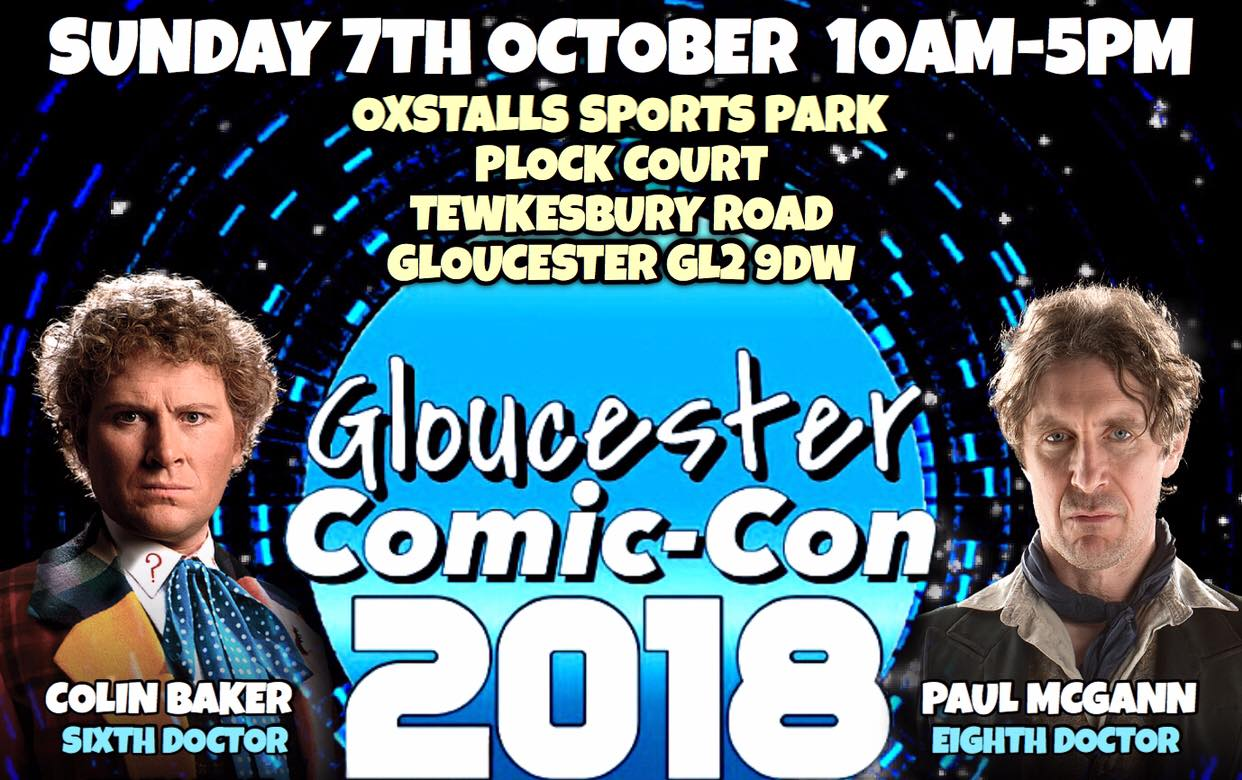 Gloucester Comic Con 2018! October 7th! Click the image below for tickets!