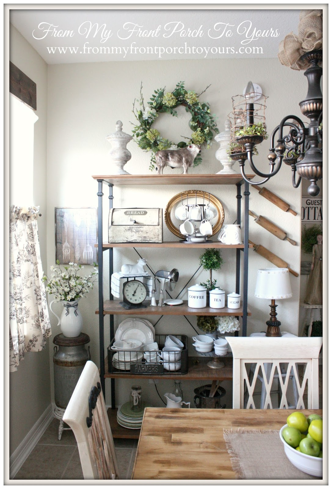 From My Front Porch To Yours- French Farmhouse Bakers Rack