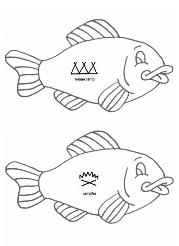 Clubhouse Academy Printable Native American Indians Symbol Fish