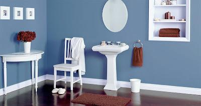 Pintura y madera el color del mes agosto azul for Pintura cocina pato azul