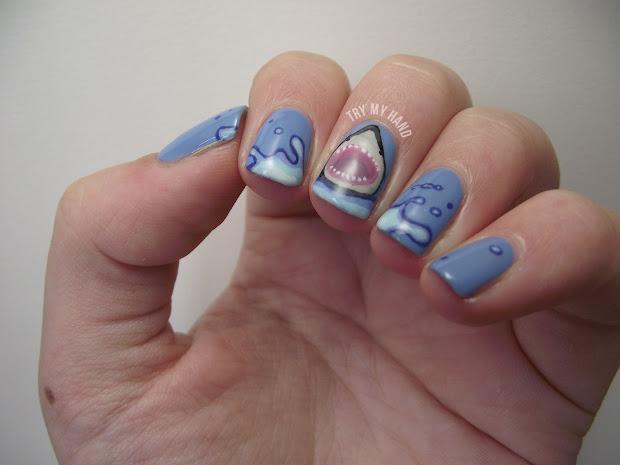 hand alphabet nail art