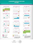 Calendario Oficial 195 días Ciclo Escolar 2017-2018