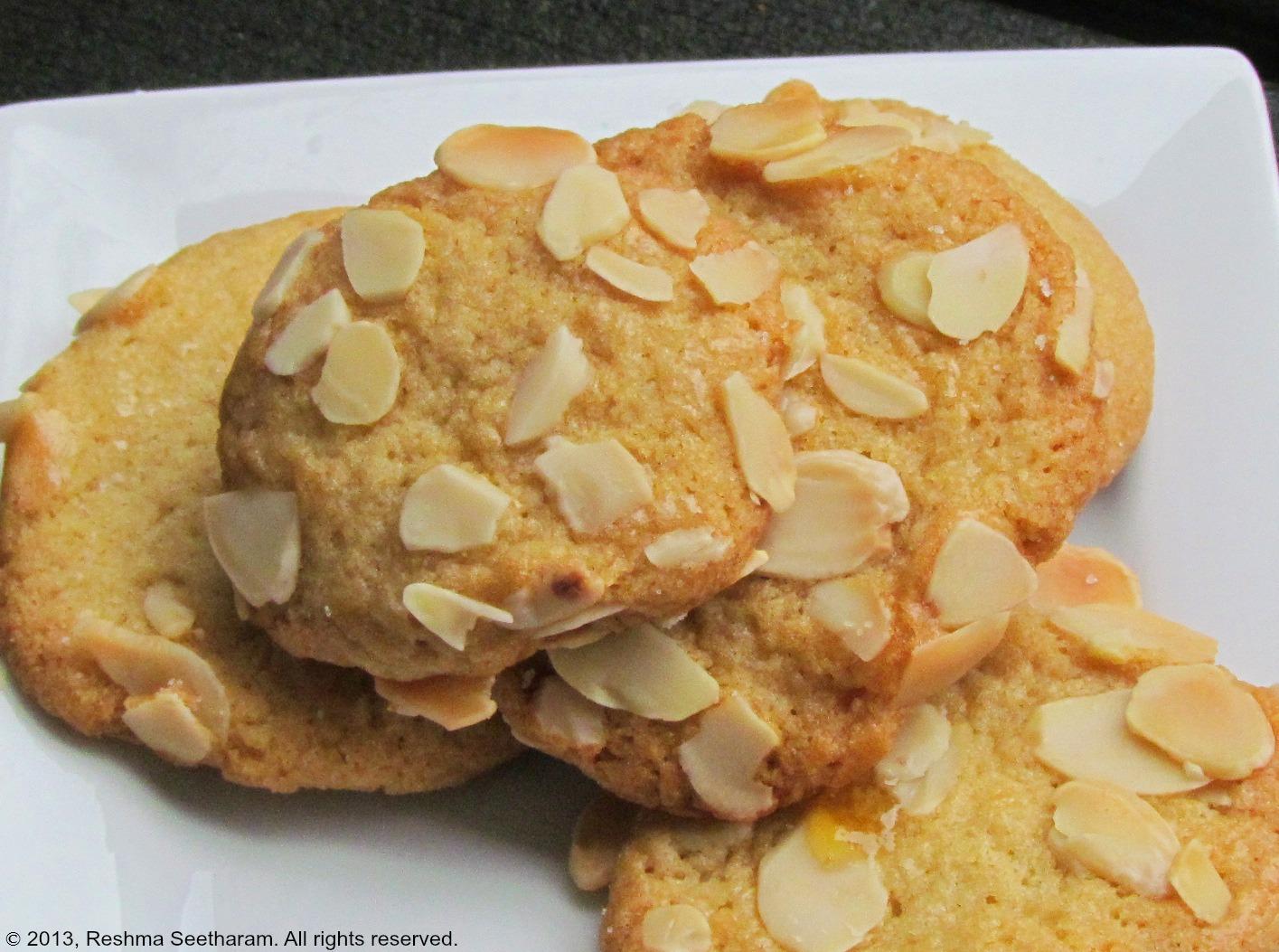 Myfoodarama.com: Almond coated cookies
