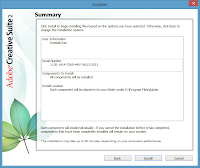 Windows 8. Free Adobe CS2 installation - Installation Summary