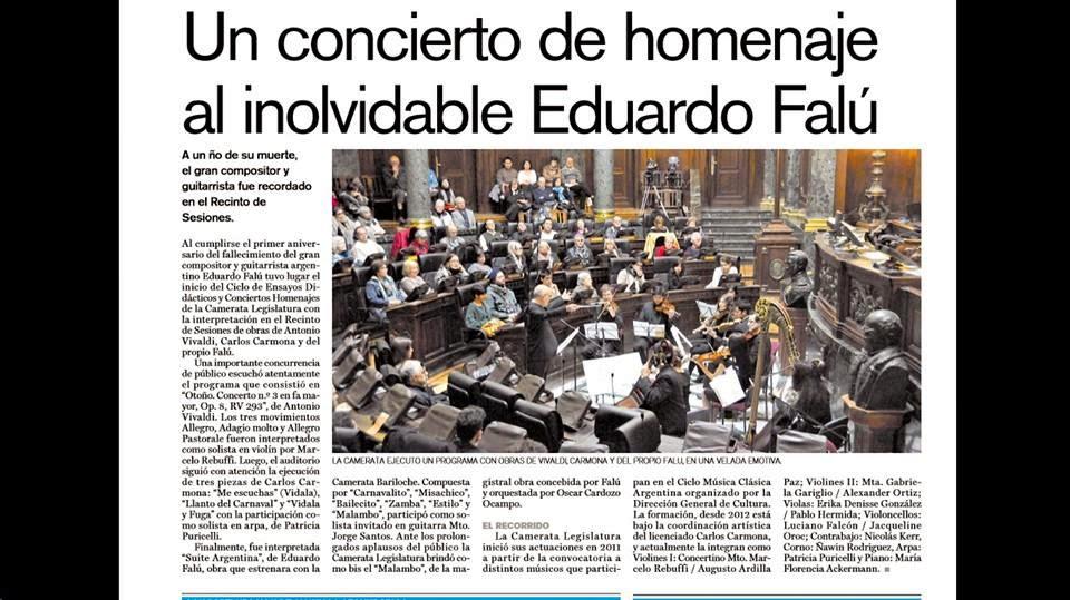 CONCIERTO DE MUSICA ARGENTINA EN LA LEGISLATURA DEL GOBIERNO DE LA CIUDA...