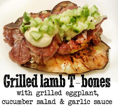 Derek's Kitchen: Grilled Lamb with cucumber salad & garlic sauce
