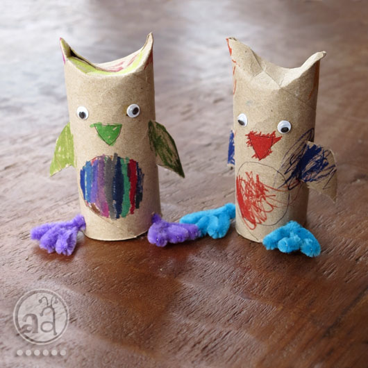 Kids Craft Tutorial Diy Owl With A Recycled Toilet Paper Roll