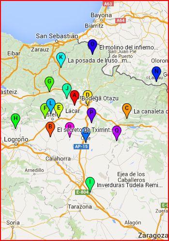 Mapa interactivo con la ubicación y video de todos los paseos