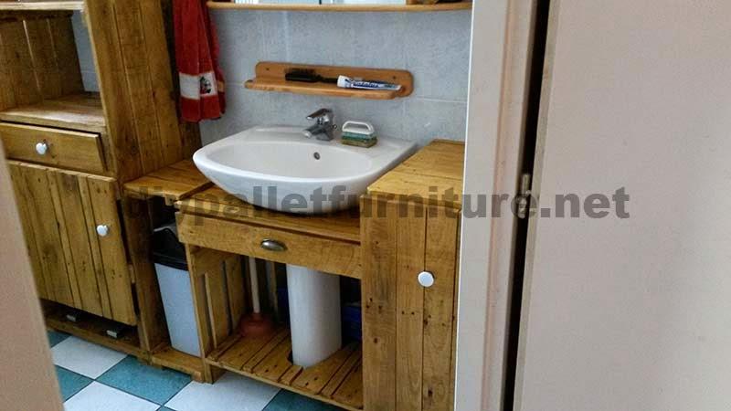 Muebles Para Baño Hechos Con Palets: net: Muebles para el baño realizados íntegramente con palets