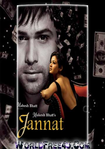 Poster Of Bollywood Movie Jannat (2008) 300MB Compressed Small Size Pc Movie Free Download worldfree4u.com