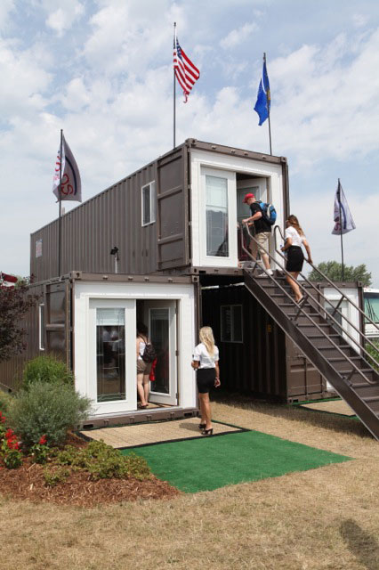 Shipping container homes shipping container modular home mods international appleton - Cargo container home builders ...