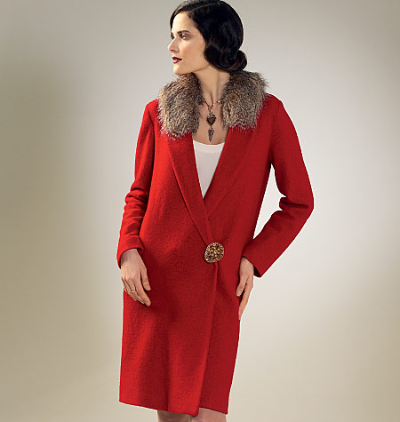 Pintucks: 1920's Flapper Coat: McCalls 7259 Archive Collection