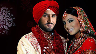 The wedding took place according to Sikh rituals and included a dramatic moment when his Harbhajan Singh went down on his knees to show his love for his wife. The video shows him Harbhajan Singh saying he and his wife were both happy and excited.