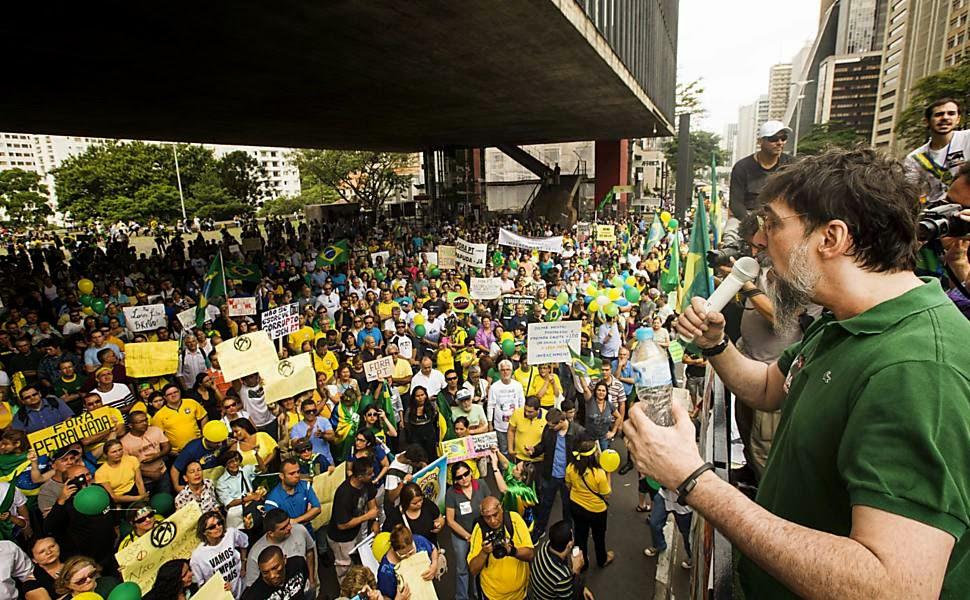 Lobão na Manifestação do dia 29/11/2014 - Um Asno