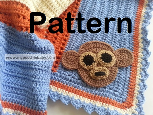 Raising Mimi Poochiebaby Crochet Monkey Baby Receiving Blanket Pattern