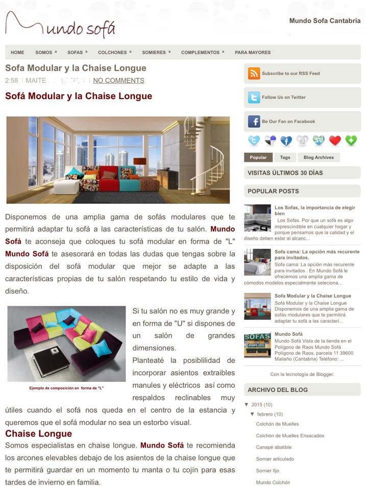 Informacion de Sofas y Colchones