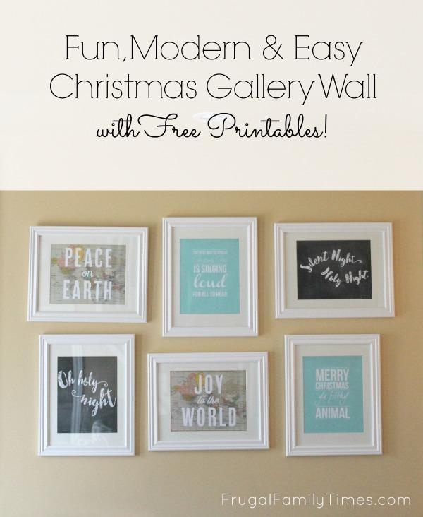 Free Printable Modern Christmas Wall Prints For Living Room