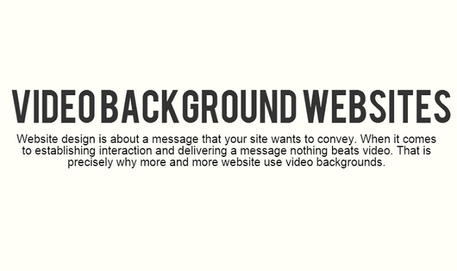 Websites With Video Backgrounds