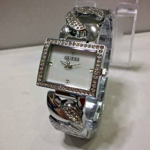 Jam Tangan Guess Rantai Full Silver