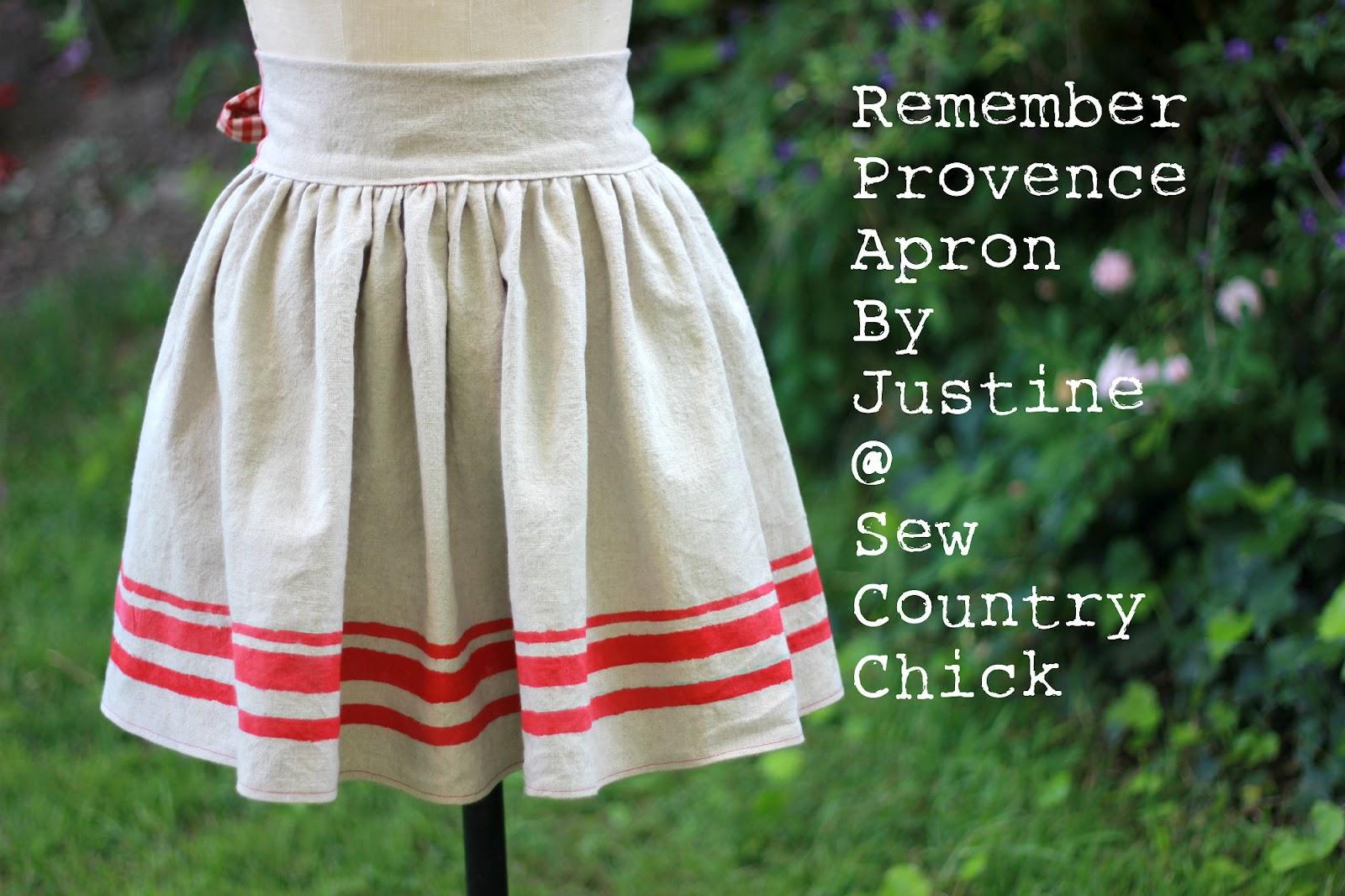 Remember Provence Apron Tutorial