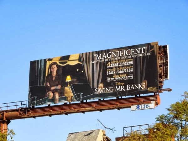 Saving Mr Banks awards nomination billboard