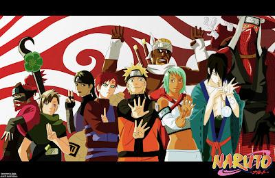 Gambar Jinchuriiki dalam serial animasi Naruto