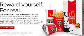 McDonalds Monopoly 2011