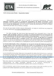 Documento entregado a Inmaculada Nieto sobre problemáticas en la Junta de Andalucia